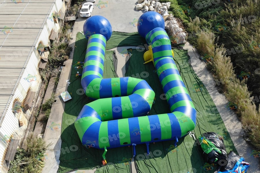 Inflatable Caterpillar Obstacle Course On Land For Events Carnivals OH15-301
